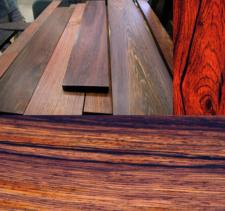 sample cocobolo wood photos
