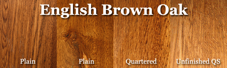 english brown oak wood