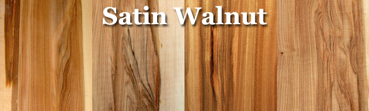 satin walnut wood, red gum wood