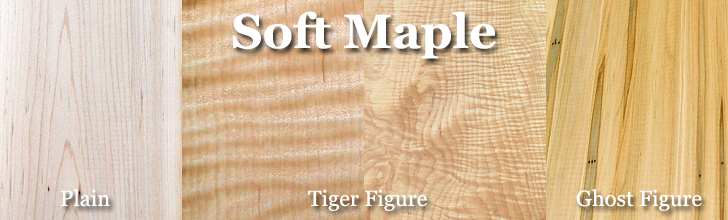 soft maple, tiger maple, ghost maple