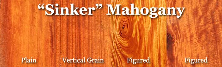 sinker belizean mahogany wood