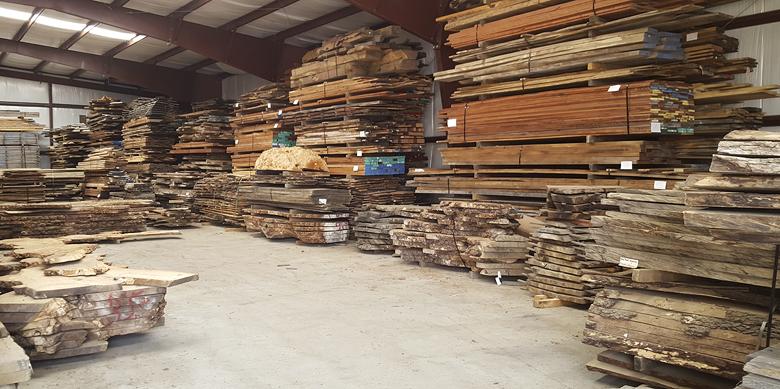 Bookmatched Slabs at Heanre Hardwoods Inc.